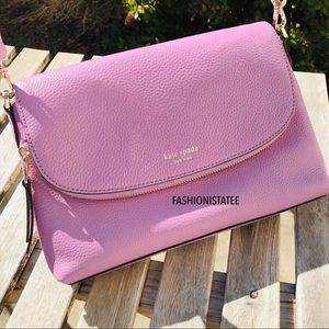 Kate spade large flap crossbody Polly orchid 527